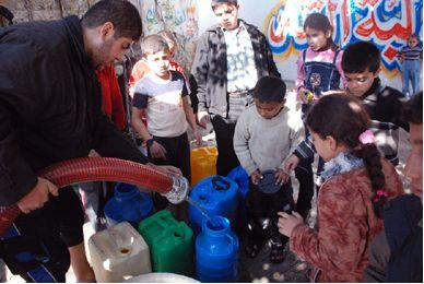 Over 65 % of the Gazan population only have access to water for two hours, once a week.Photo: Mohammed Ali/ Oxfam