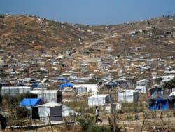 A view of Corail camp
