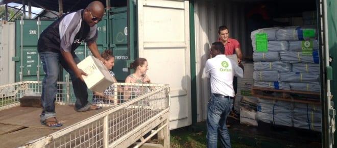 Emergency relief in the Solomons