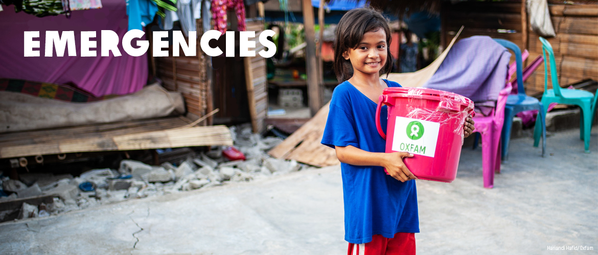 Learn about how Oxfam acts quickly to assist communities in the wake of emergencies and distastes