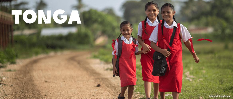 School children in Tonga