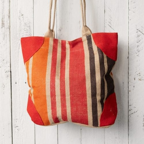 brown-red-and-orange-striped-lined-jute-bag-oxfam-nz