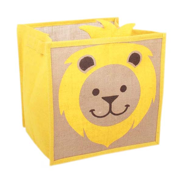 jute-toy-box-with-yellow-lion-print-oxfam-nz