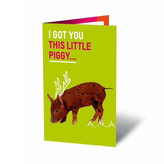 Oxfam unwrapped ecard Christmas Pig