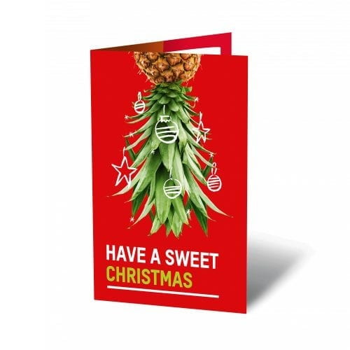 Oxfam unwrapped ecard Christmas Pineapples
