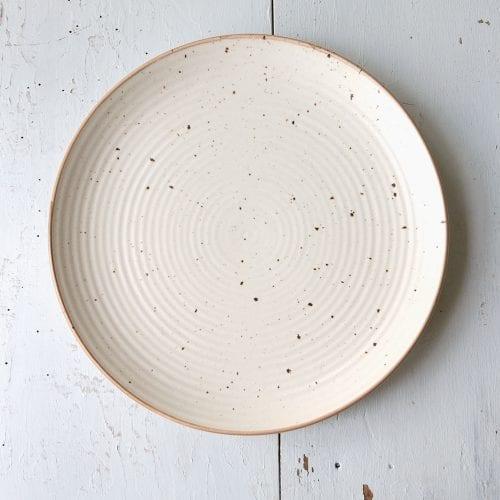 cream-speckle-dinner-plate-oxfam-nz
