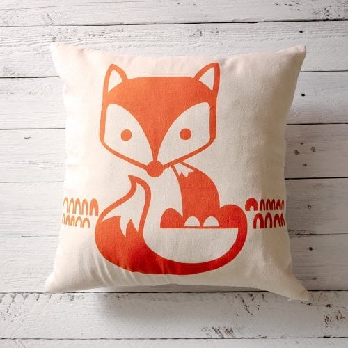white-cushion-cover-with-orange-fox-print