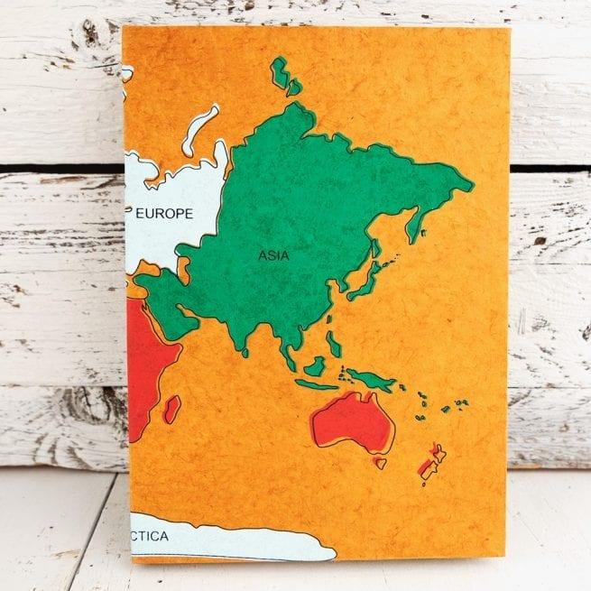 Handmade-paper-notebook-world-map-design
