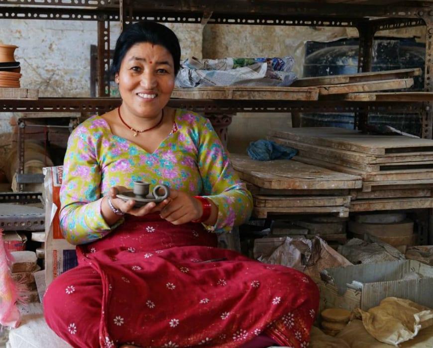 Chandra Devi Prajapati, a ceramics artisan