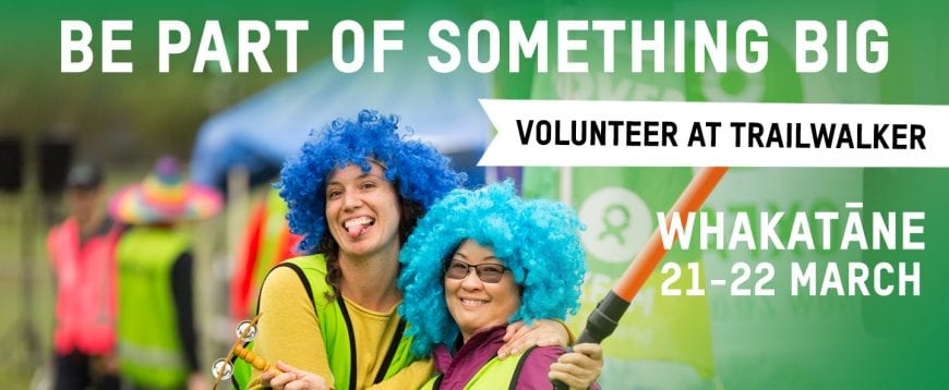 Give back by signing up to volunteer at Oxfam Trailwalker.