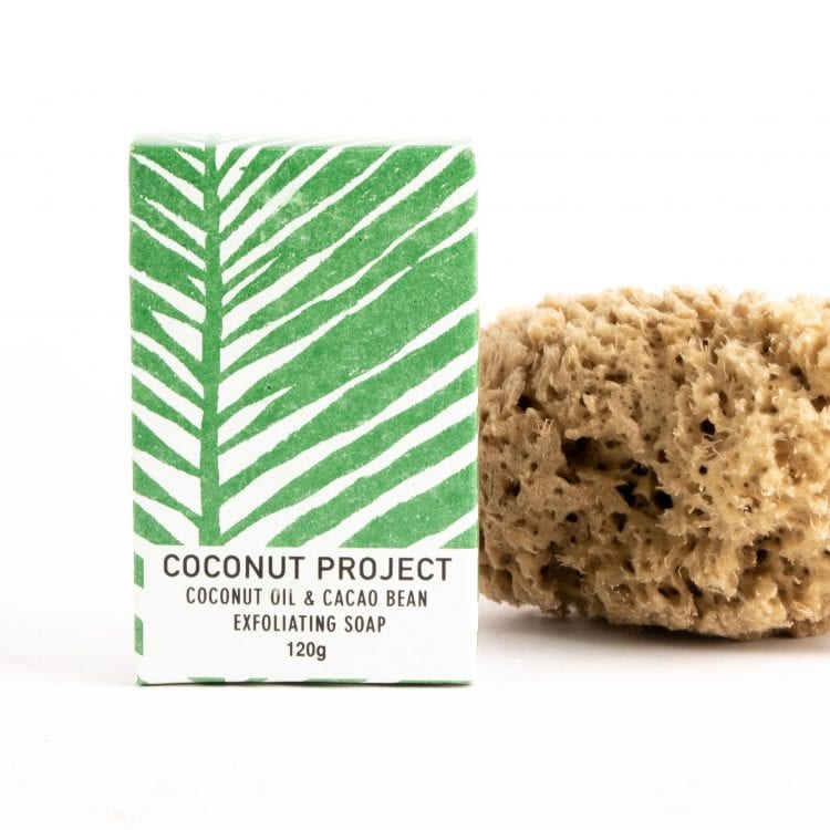 Oxfam shop coconut and cacao exfoliating soap
