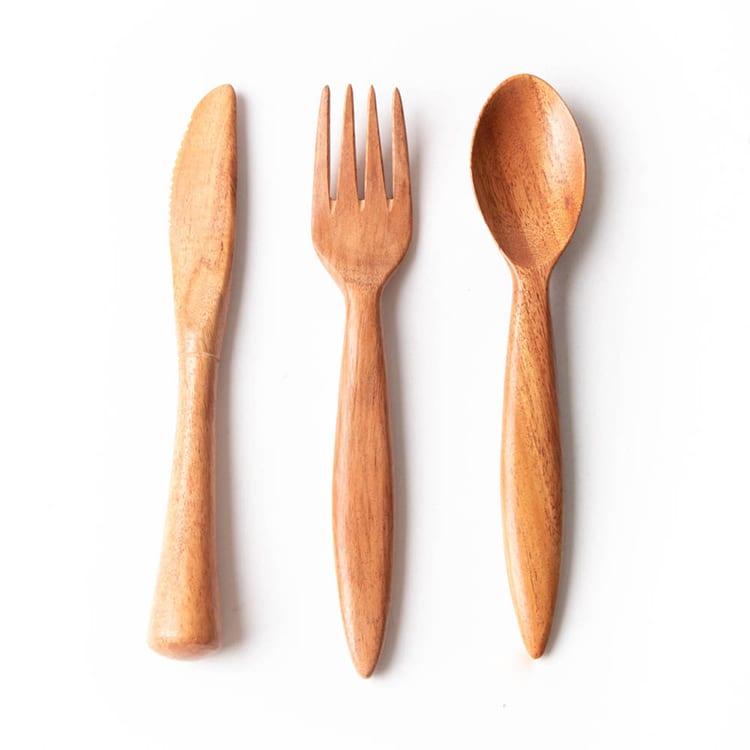Neem travel cutlery set