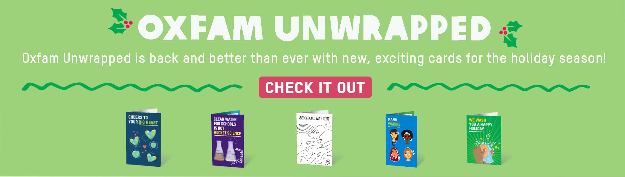 Oxfam Unwrapped Banner