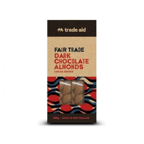 55% dark chocolate coated almonds