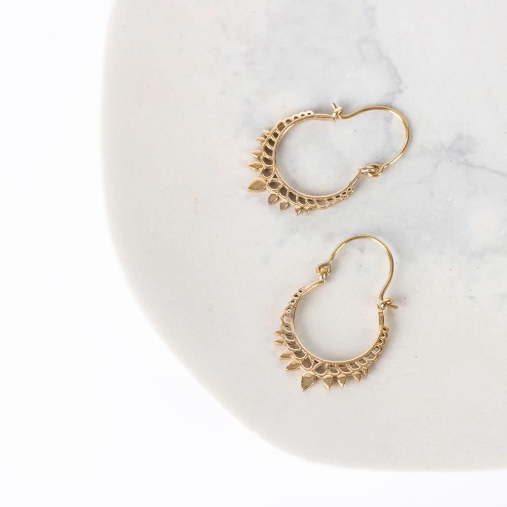 Accessories - Jali crown earrings