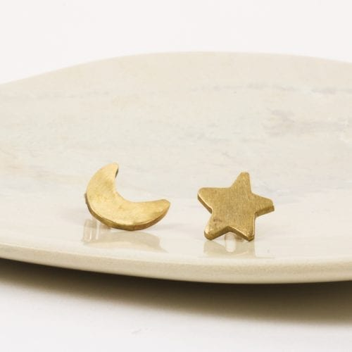 Accessories - Moon and star studs