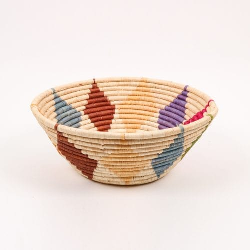 Multicoloured diamond design bowl