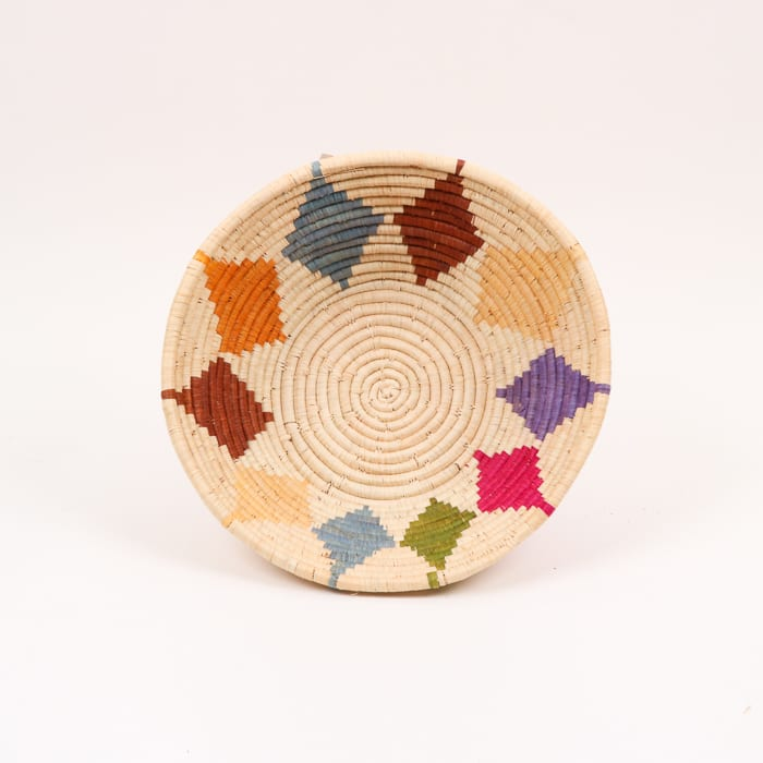 Multicoloured diamond design bowl
