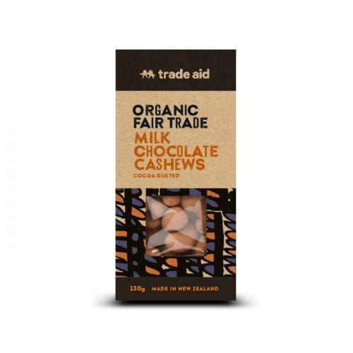 Organic 40% milk chocolate coated cashews