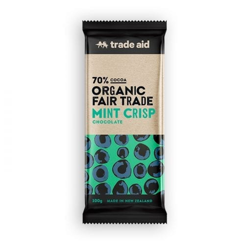Organic 70% mint crisp chocolate
