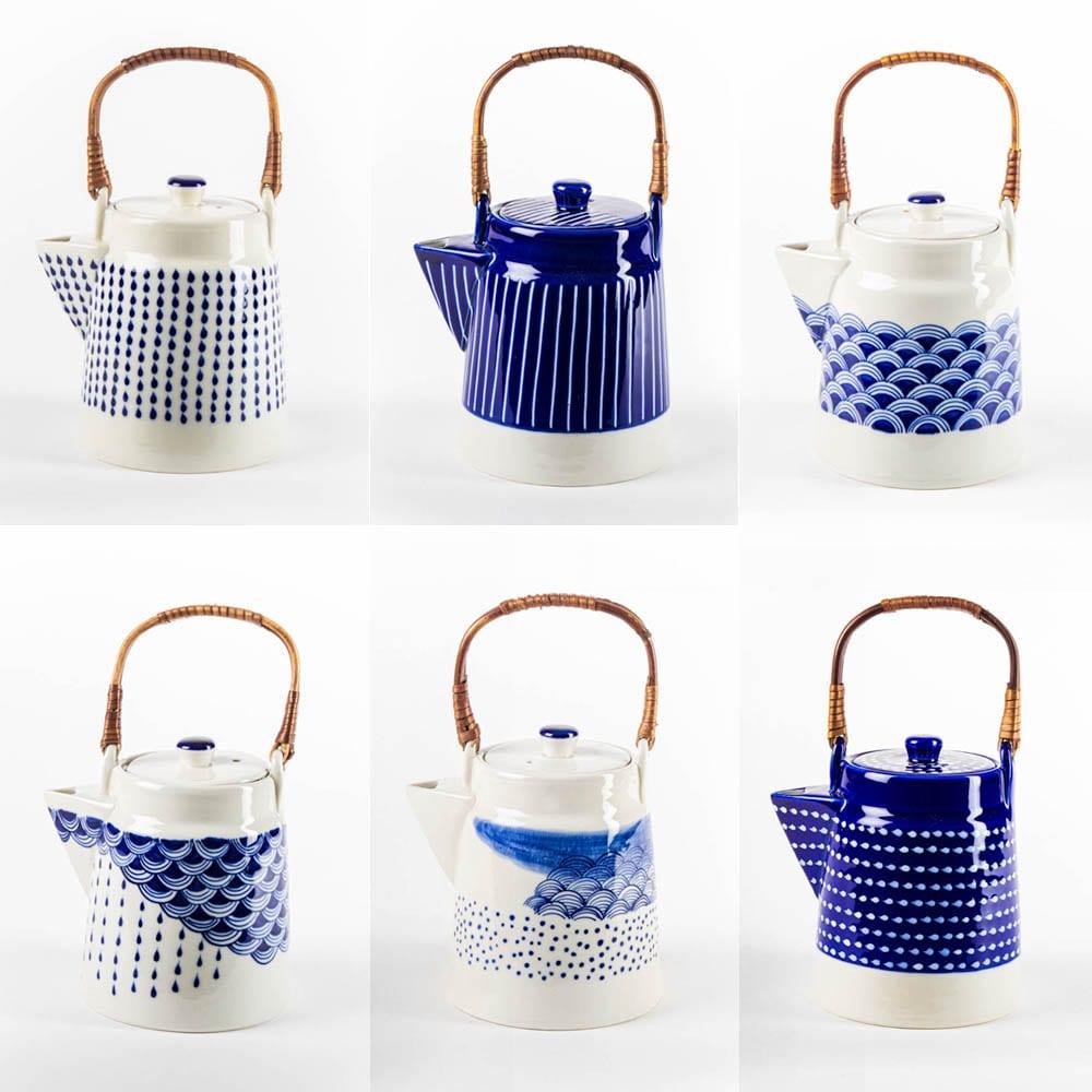 Blue Tea pots